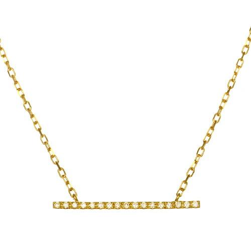 K18 diamond necklace straight