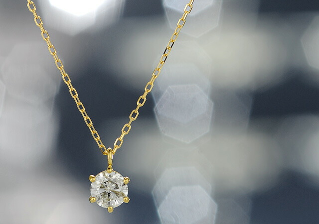 K18 diamond necklace float 0.5ct