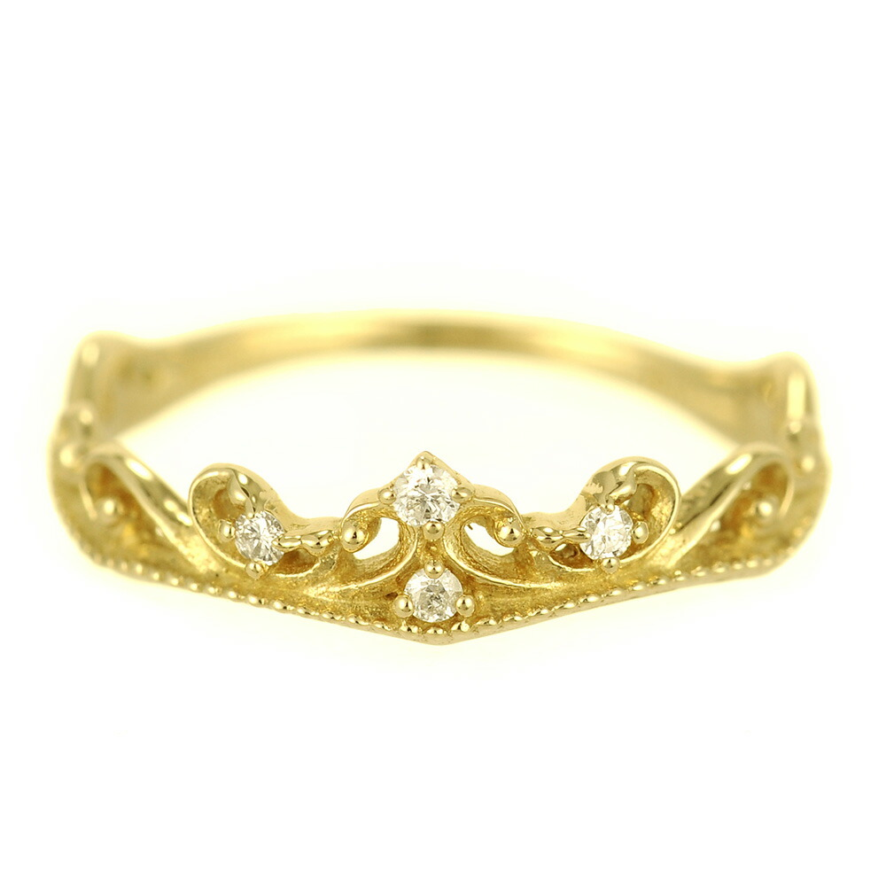 K18 diamond ring wave tiara