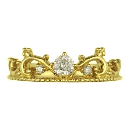 K18 diamond pinkyring ivy crown