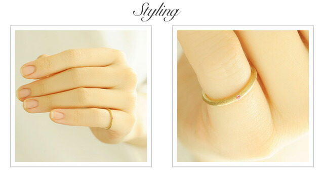 K18 color stone ring svelte