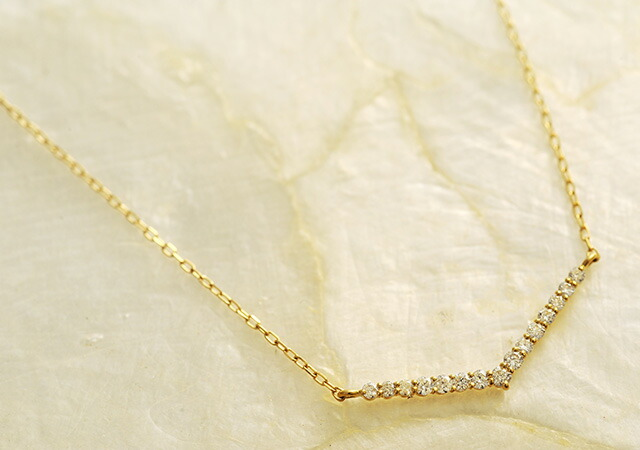 K18 diamond necklace keen