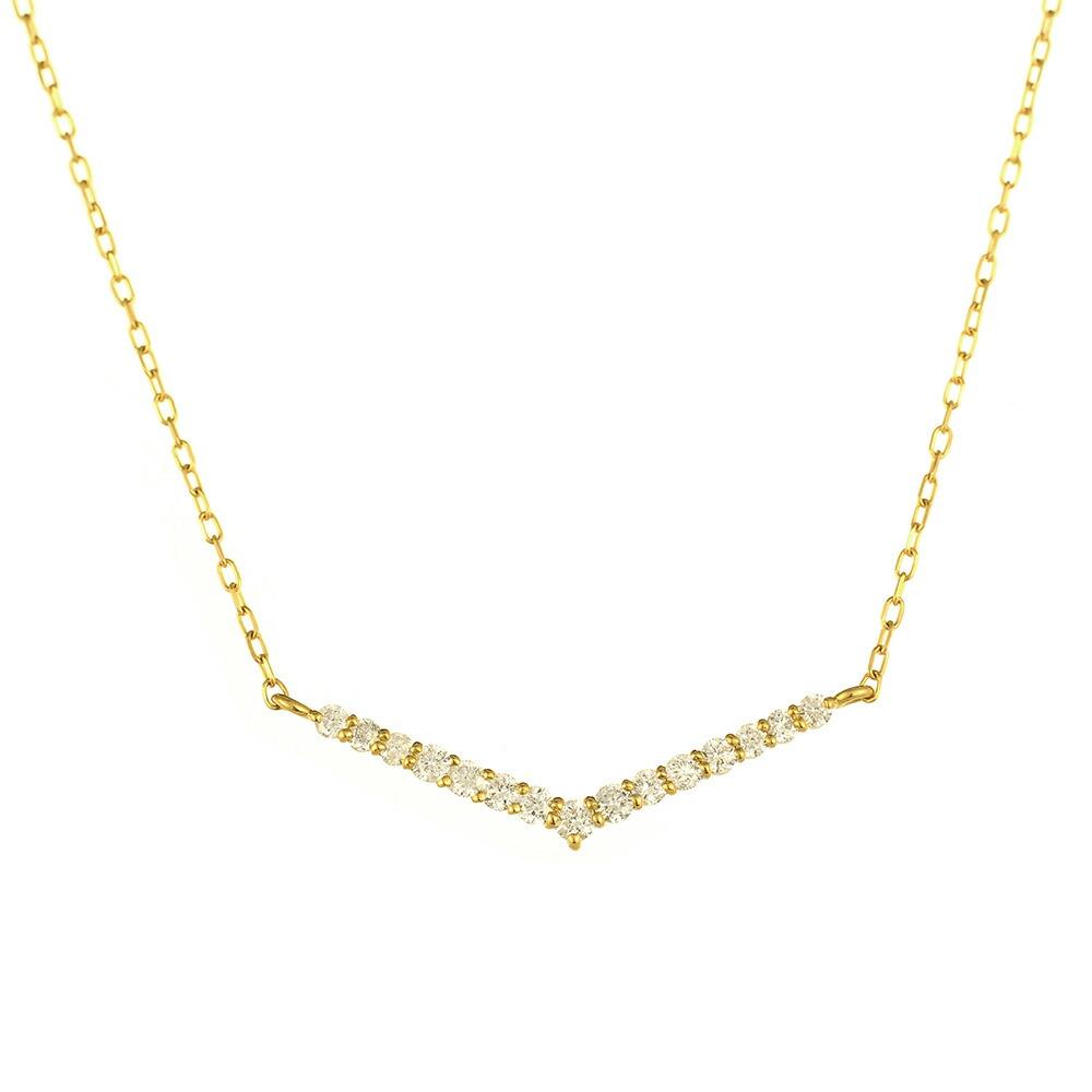 K18 diamond necklace keen