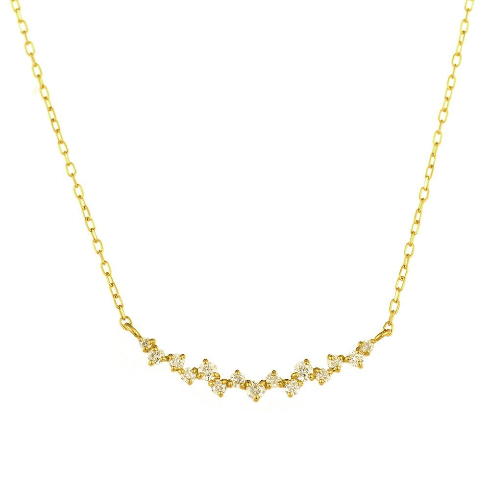 K18 diamond necklace riffle