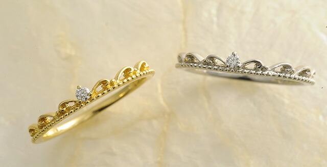 K18 diamond pinkyring eminent