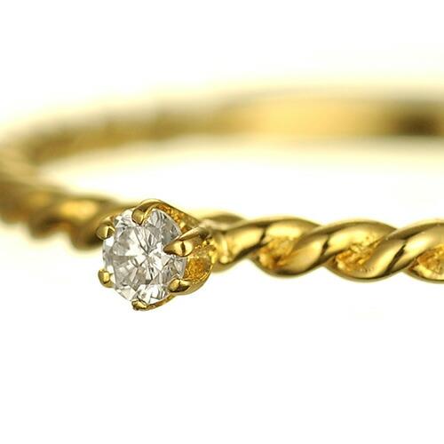 K18 diamond pinkyring petit soli