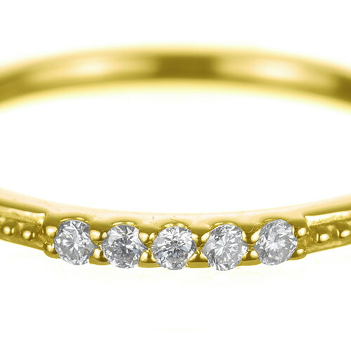 K18 diamond pinkyring bittersweet