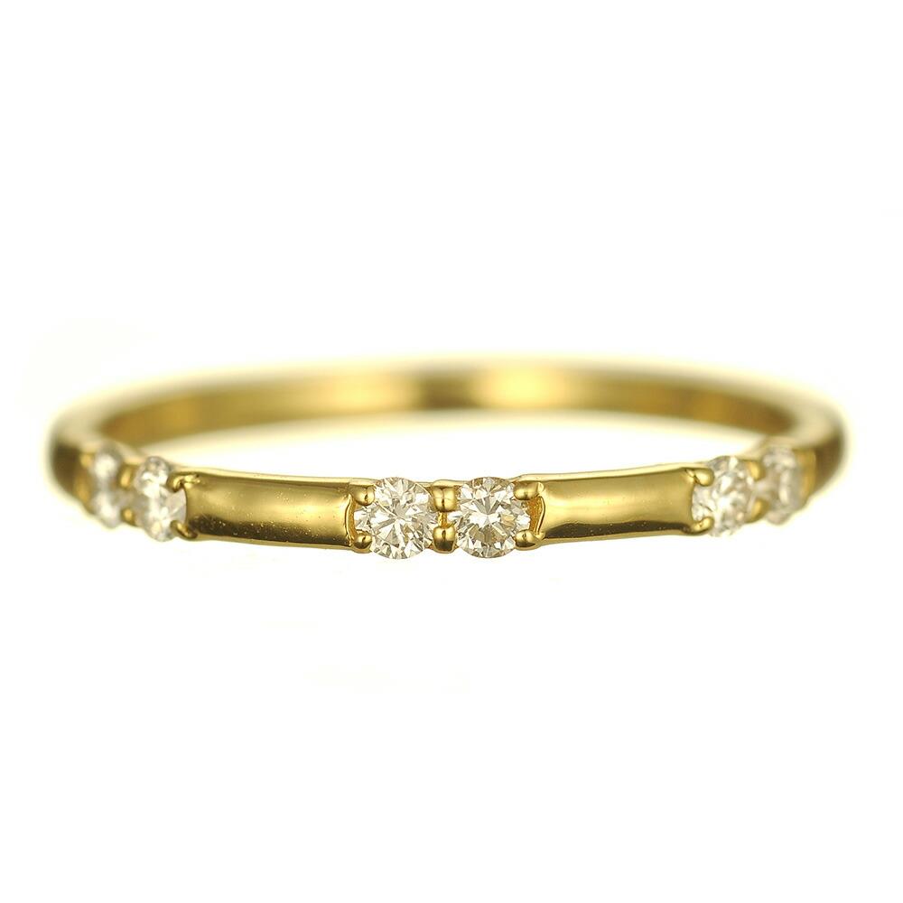 K18 diamond pinkyring duple time