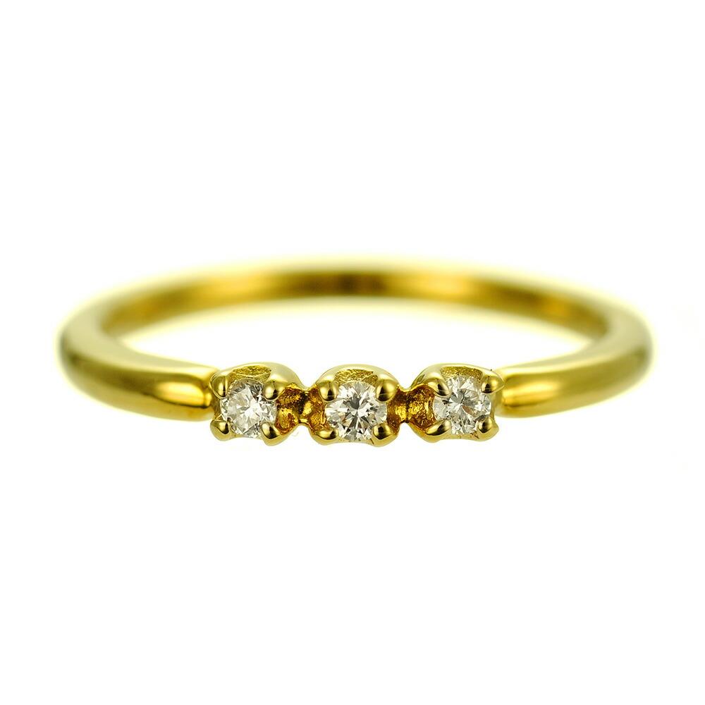 K18 diamond pinkyring lustrous