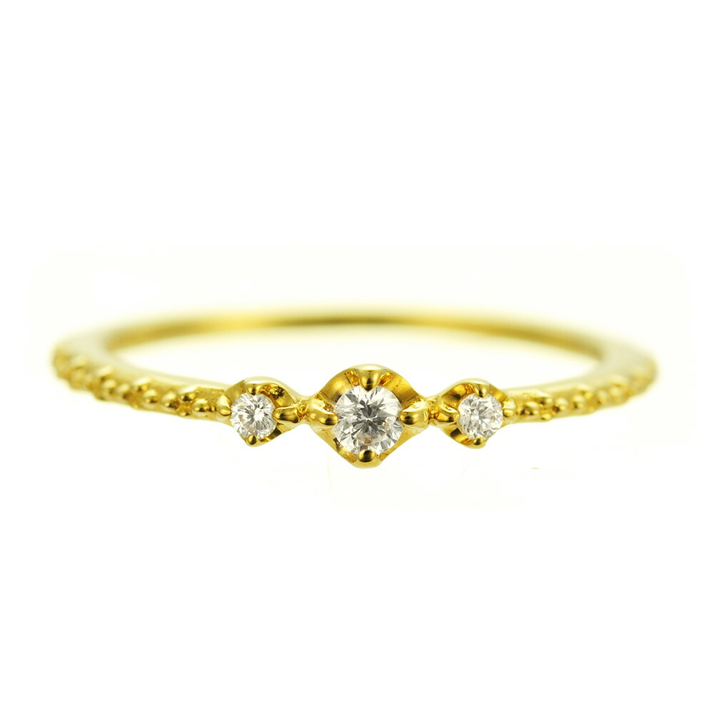 K18 diamond pinkyring stunning
