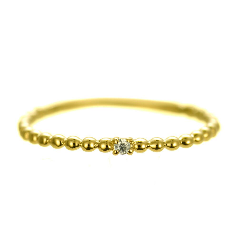 K18 diamond pinkyring luxuriant