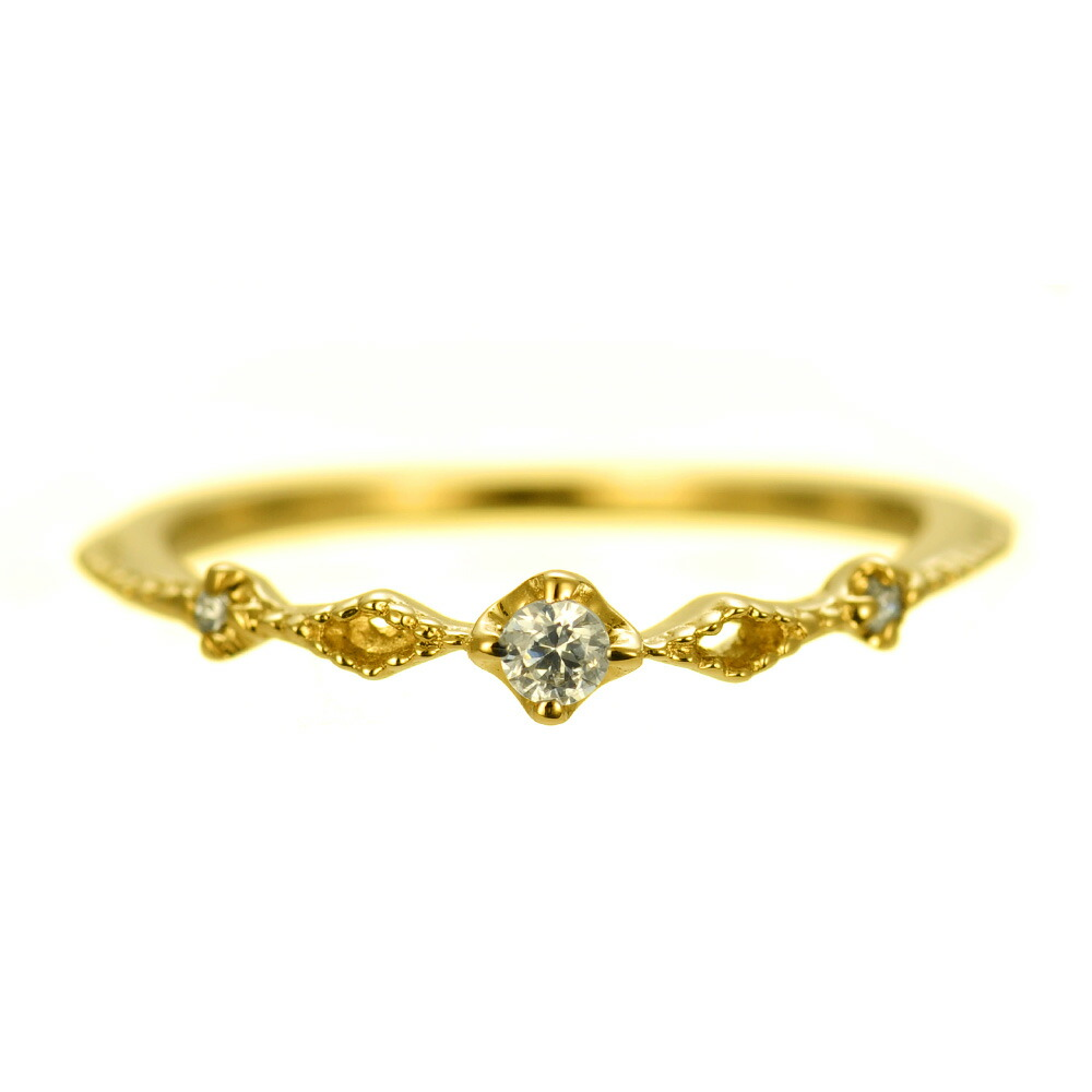 K18 diamond pinkyring  luscious