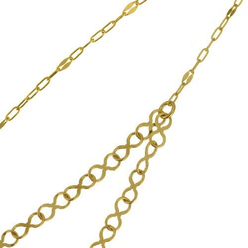 K18ロングネックレス infinity drape