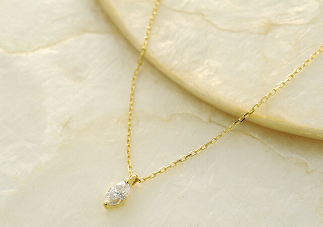 K18 diamond necklace Marquise-Dia