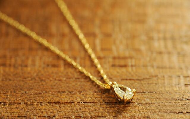 K18 diamond necklace Pairshape-Dia