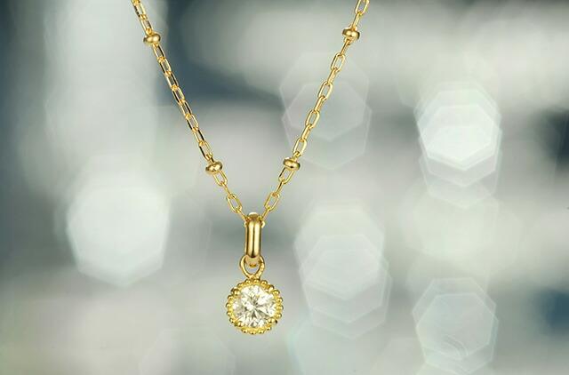 K18 diamond necklace fata