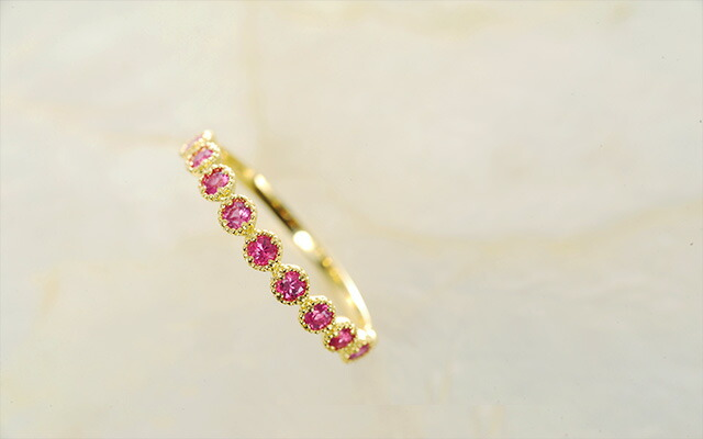 K18 birthstone ring elevato