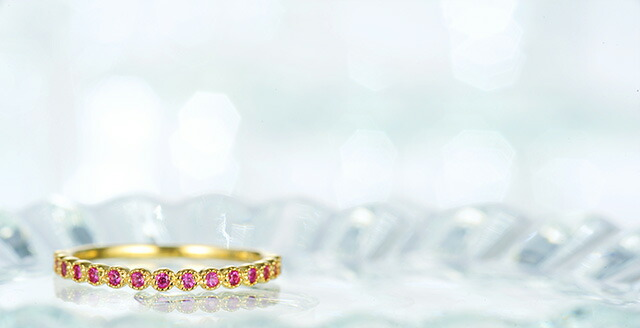 K18 birthstone ring promise