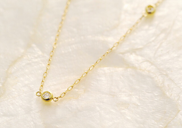 K18 diamond necklace petit station