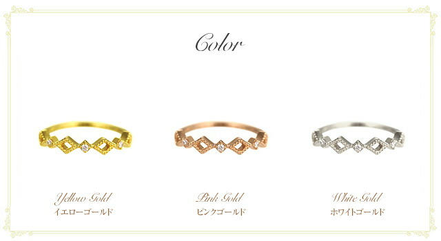 K18 diamond pinkyring lucent