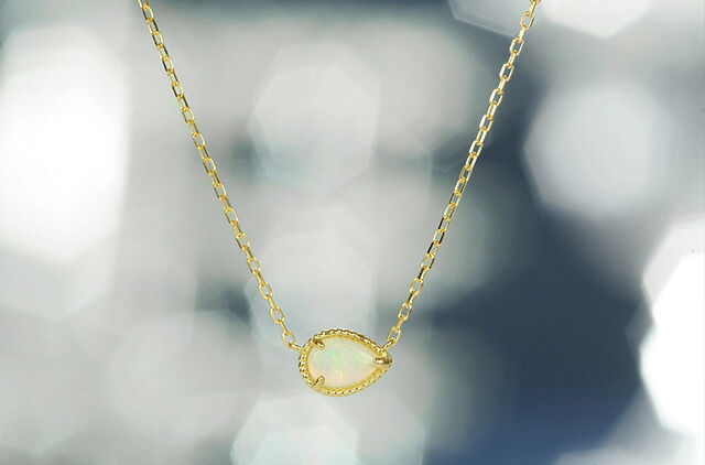 K18 opal necklace destiny point