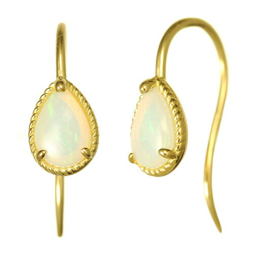 K18 opal pierced earrings destiny point