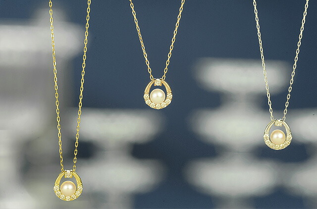 K18ダイヤモンドネックレス sea drop