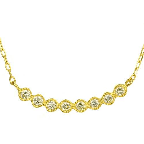 K18ダイヤモンドネックレス gentline