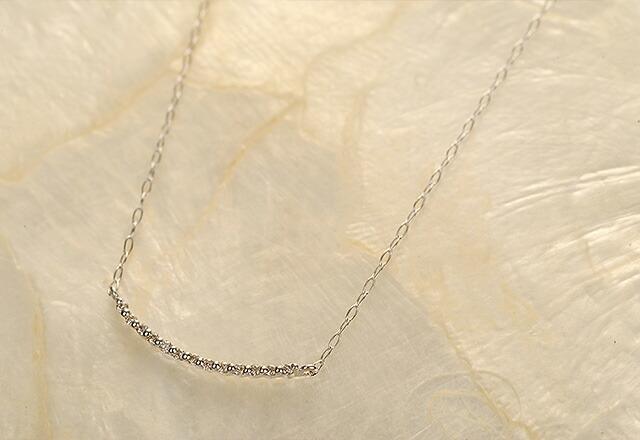 K18ダイヤモンドネックレス catenary