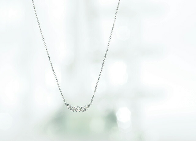 K18ダイヤモンドネックレス integrity