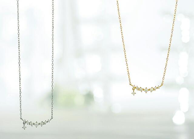 K18ダイヤモンドネックレス dangle