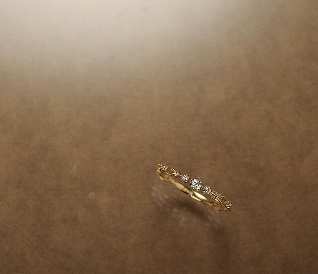 K18ダイヤモンドリングAglaea
