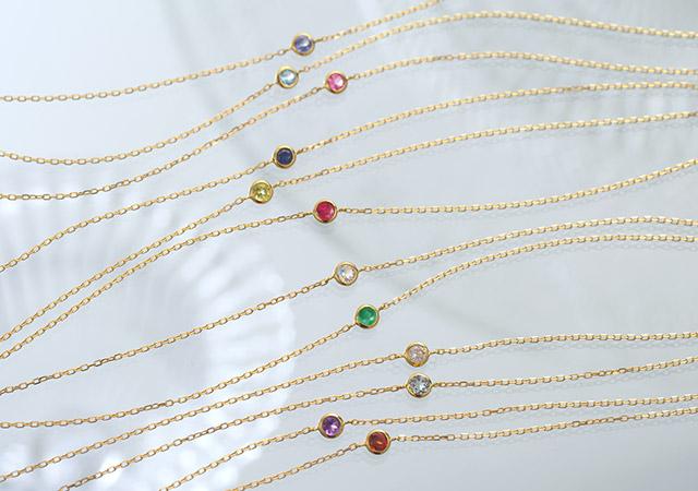K18 diamond necklace K18 ダイヤモンド ネックレス liberty