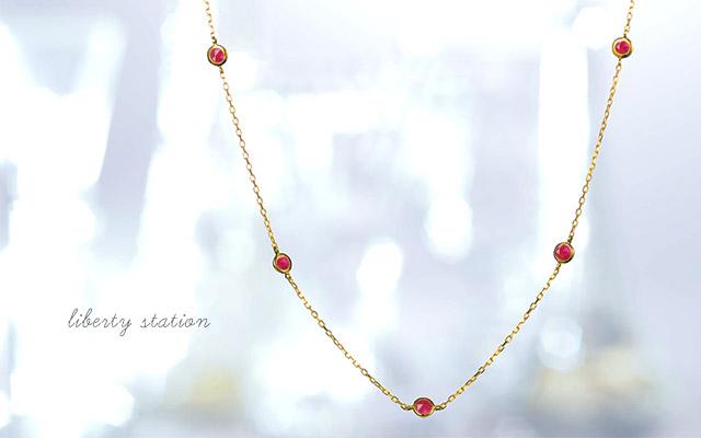 K18 diamond necklace K18 ダイヤモンド ネックレス iberty station