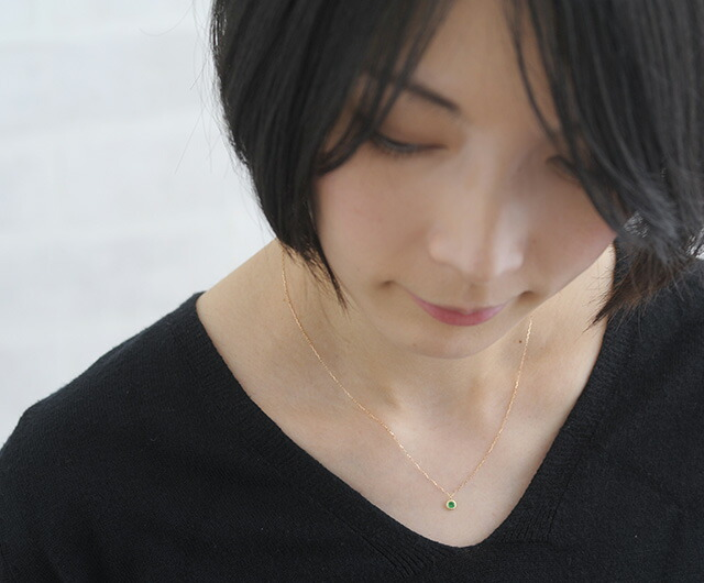 K18誕生石ネックレス