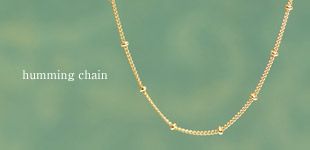 K18 18金 ネックレス バーラチェーン ドットチェーン ロングネックレス チェーンネックレス ステーションネックレス humming chain