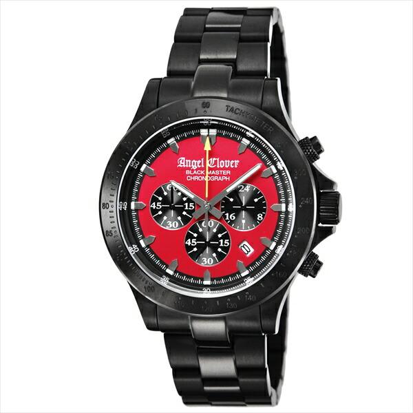 エンジェルクローバー 時計 メンズ ANGEL CLOVER ブラックマスターミリタリー 腕時計 ウォッチ ブラック レッド