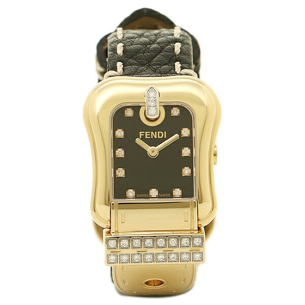 【6時間限定ポイント10倍】【返品OK】フェンディ 腕時計 レディース FENDI F384211DDC ブラック/ゴールド