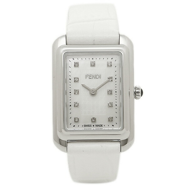 FENDI 腕時計 レディース フェンディ F702024541D1 ホワイトパール