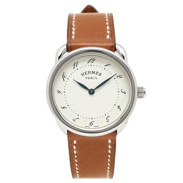 HERMES 腕時計 エルメス 040135WW00 AR5.210.130/VBA-I ブラウン レディース シルバー ホワイト