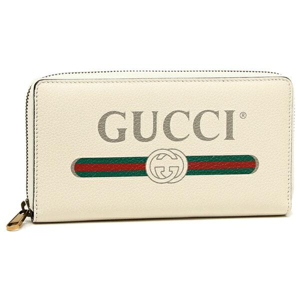 GUCCI 長財布 メンズ レディース グッチ 496317 0GCAT 8820 Long Wallet ホワイト