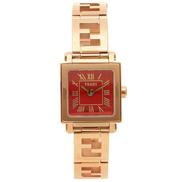 【返品OK】フェンディ 腕時計 レディース FENDI F605527200D レッド ピンクゴールド