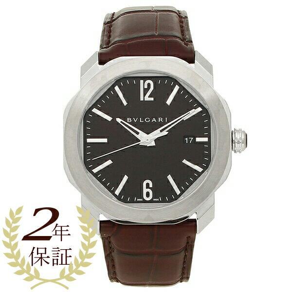 BVLGARI 腕時計 メンズ 自動巻き ブルガリ OC41C1SLD ブラウン シルバー