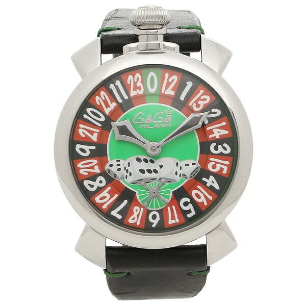 【6時間限定ポイント10倍】【返品OK】ガガミラノ 腕時計 メンズ GAGA MILANO 5010.LV01BLK グリーン ブラック シルバー マルチカラー