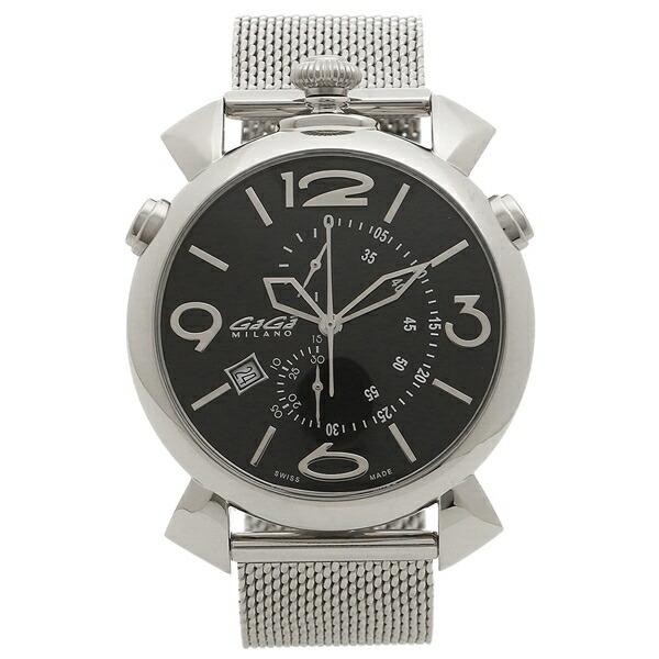 GAGA MILANO 腕時計 メンズ ガガミラノ 5097.01BR-B ブラック シルバー