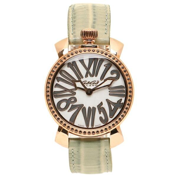 GAGA MILANO 腕時計 レディース メンズ ガガミラノ 6026.03 グレージュ ホワイトパール