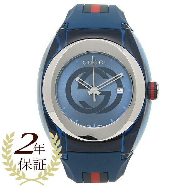 【198時間限定ポイント10倍】【返品OK】グッチ 腕時計 レディース メンズ GUCCI YA137104 ブルー