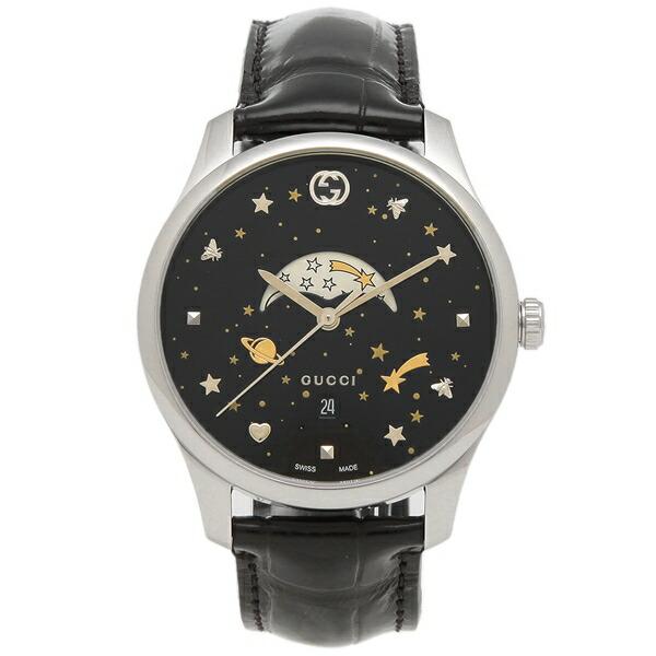 【198時間限定ポイント10倍】【返品OK】グッチ 腕時計 メンズ GUCCI YA126327 ブラック