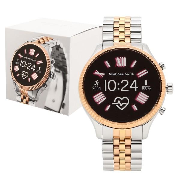 【6時間限定ポイント10倍】【返品OK】マイケルコース 腕時計 スマートウォッチ レディース MICHAEL KORS MKT5080 シルバー ローズゴールド