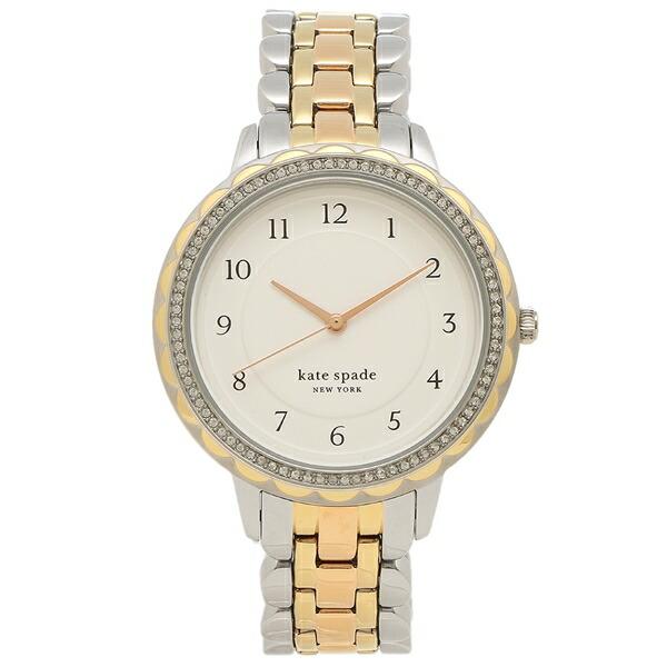 【6時間限定ポイント10倍】【返品OK】ケイトスペード 腕時計 レディース KATE SPADE KSW1571 38MM シルバー マルチ